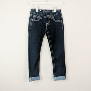 Miss Me Jeans Dark Wash Cropped Jeanz